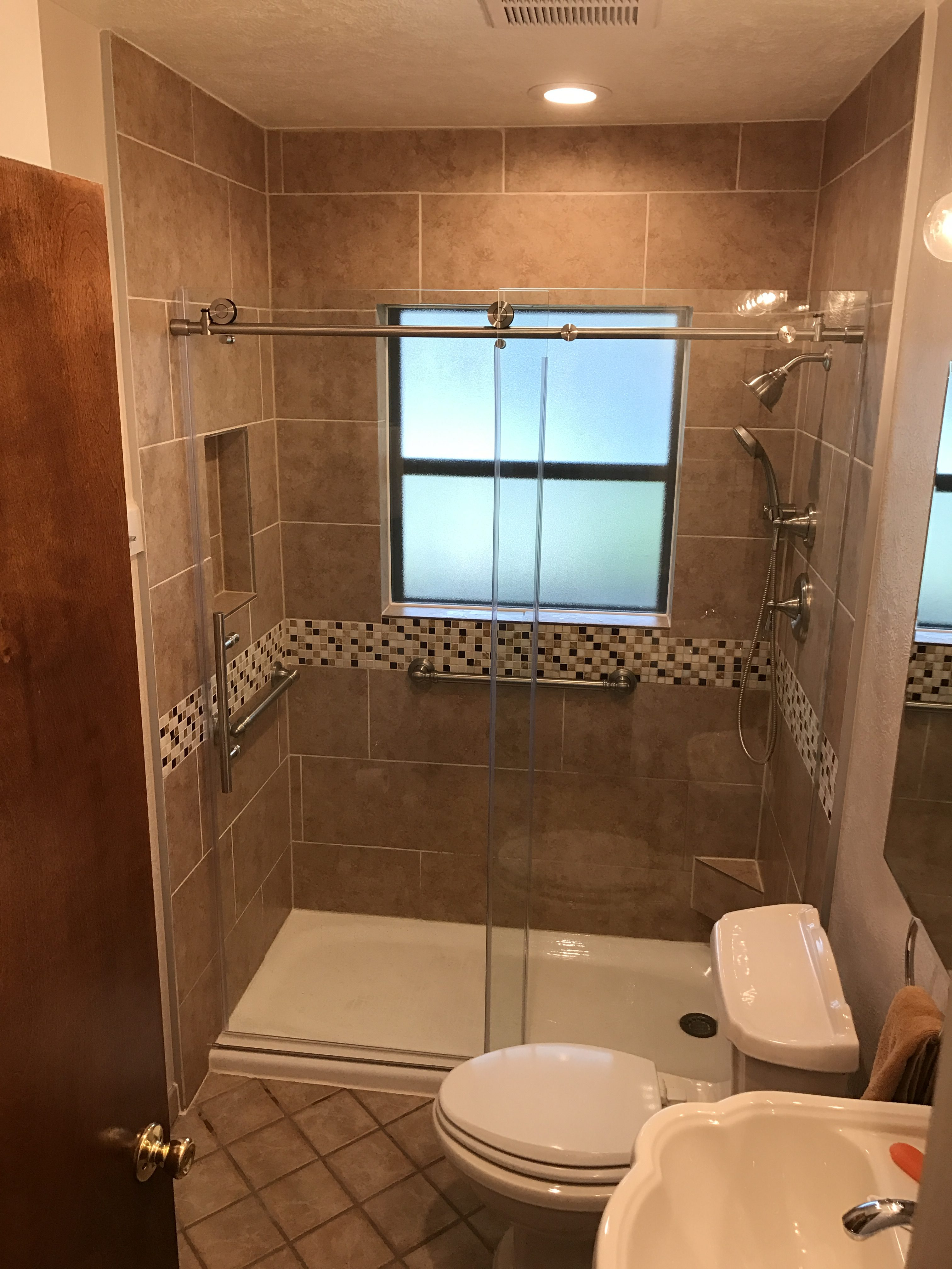 Austin Tub To Shower Conversion W Frameless Sliding Door