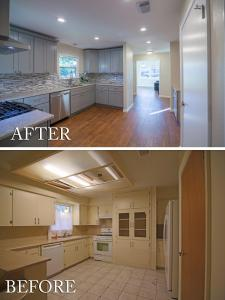 Full Modern Kitchen Remodel Before and After 01