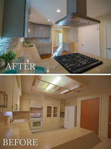 Full Modern Kitchen Remodel Before and After Kitchen 02
